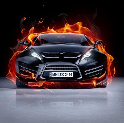 flaming auto